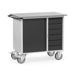 Werkstattwagen - mit 1 Schrank und 4 Schubladen