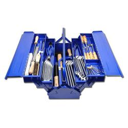 Tool set FORUM - locksmith - 58 pieces - in steel sheet case - FORUM