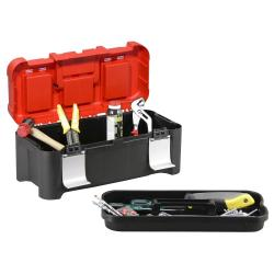Profi-Werkzeugkoffer McPlus Alu 17.8 - Außenmaße (B x T x H) 450 x 225 x 200 mm - Farbe schwarz / silber