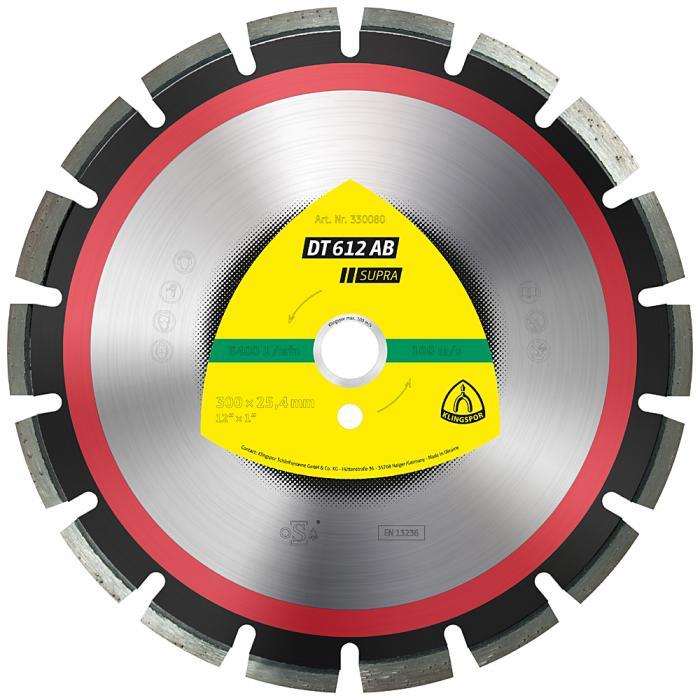 Diamanttrennscheibe DT 612 AB - Durchmesser 300 bis 500 mm - Bohrung 20 bis 25,4 mm - lasergeschweißt