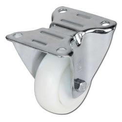 Fixed Castors - Polyamide Load Capacity 100-300kg Plate - Ball Bearing - Poyuret