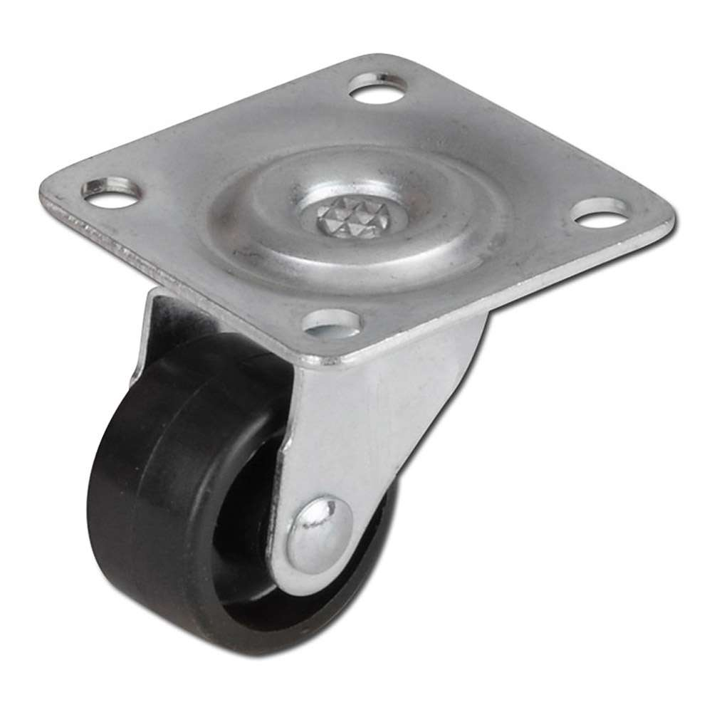 Lenkrolle - bis 35kg - Felge PA - Gleitlager - Lauffläche PA - Platte - ohne Sto