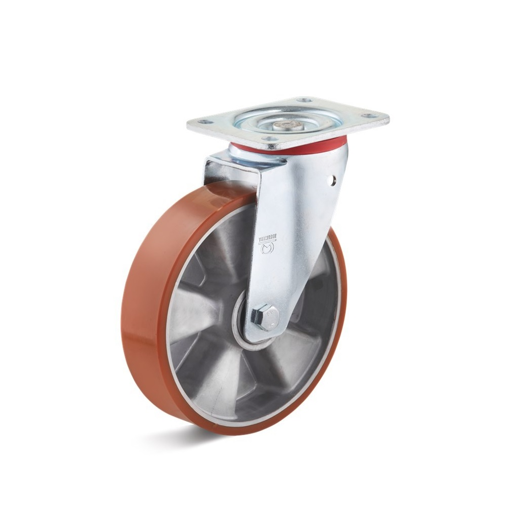 Lenkrolle - Aluminium-Druckgussrad - Rad-Ø 80 bis 250 mm - Bauhöhe 109 bis 297 mm - Tragkraft 180 bis 700 kg