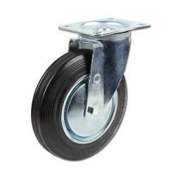 Lenkrolle - Gummirad - Rollenlager - Rad-Ø 80 bis 200 mm - Bauhöhe 105 bis 235 mm - Tragkraft 50 bis 205 kg