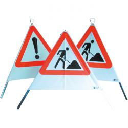Warning pyramids - 3 sided - folding signals - different imprints