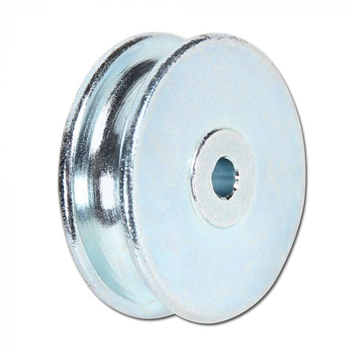 Seilrolle aus Stahl - halbrunde Nut - Rad-Ø 30 mm - Radbreite 10 mm ...