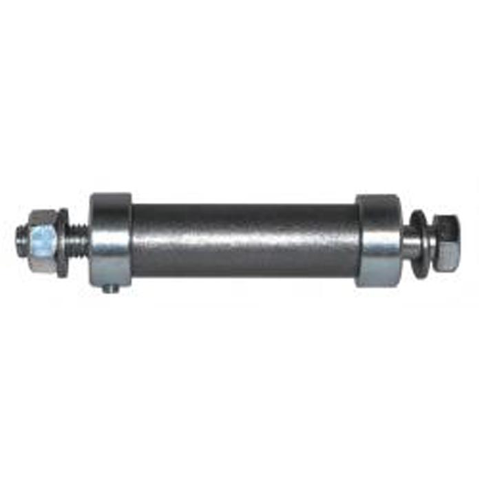 Achse für pannensichere Räder - Stahl S232 JR blank - Außengewinde - Achsenlänge 128 mm