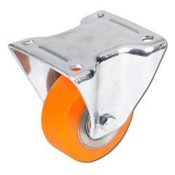 Heavy-duty fixed castor-polyurethane - max. 600 kg - ball bearings - Stainless s