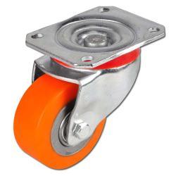 Heavy-duty castor - polyurethane - max. 600 kg - ball bearings