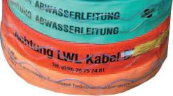 Ruban de localisation - pour sécuriser les câbles souterrains
