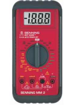 "Digital-Multimeter - MM2 ""BENNING""-CAT lll 600V AC/DC 0,1 µA bis 20 A"
