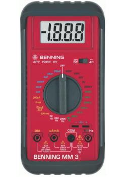 "Digital-Multimeter - MM3 ""BENNING""-CAT lll 300V AC/DC 0,1 µA bis 20 A"