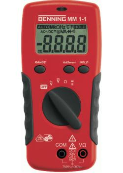 "Digital-Multimeter MM1-1 ""BENNING""- G/W 0,1 Ohm bis 20 MOhm"