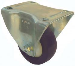 Bockrolle -  Elastik-Polyurethanrad - Rad-Ø 80 bis 250 mm - Bauhöhe 108 bis 297 mm - Tragkraft 130 bis 500 kg