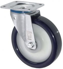 Lenkrolle - Elastik-Polyurethanrad - Rad-Ø 80 bis 250 mm - Bauhöhe 100 bis 290 mm - Tragkraft 130 bis 400 kg