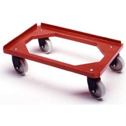 Roll carts for plastic containers - red food safe