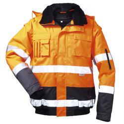 """Pilotjacka """"VOLKER"""" - 100% polyester - 4 i 1 - orange/marinblå"""