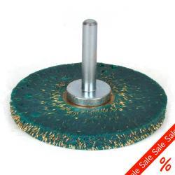 Pozostałości wałów - okrągła szczotka - falista - 0,35 mm - Ø 63mm - mosiądz-Sta