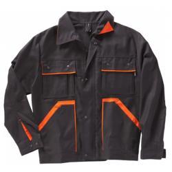 "Arbetsjacka ""Handwerk"" - storlek 44/46 till 114/118 - svart/orange"