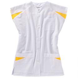 Damenkasack von beb Seersucker - weiß/gelb