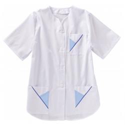 "Damenkasack - ""beb"" 65% PES / 35% CO weiß/hellblau/blau"