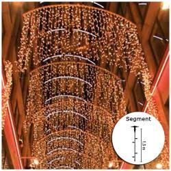 """Lichtervorhang 2 m - """"DRAPE LITE®"""" - Form Vorhang 150 - 300 LEDs - für Außenbereich"""
