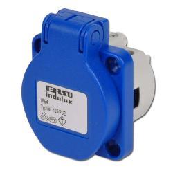 Einbausteckdose - Polyamid - 16 A 230V - IP 44 - DIN 49402 - 2-polig mit Schutzk