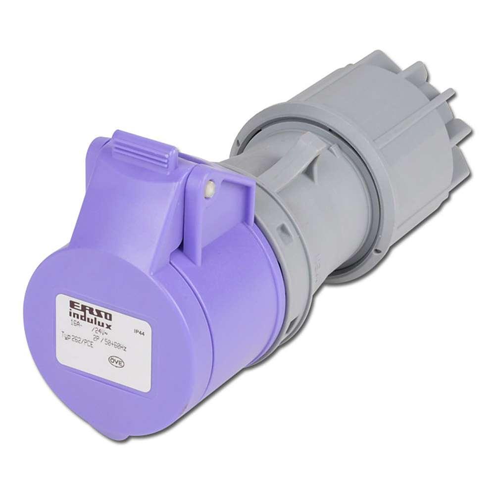 CEE-Kupplung - für Kleinspannung - 2-polig K 24V/16 A / K 42V/16A