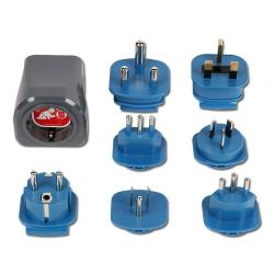 Reisestecker-Set - mit 7-Adaptern - 10 A/250 V