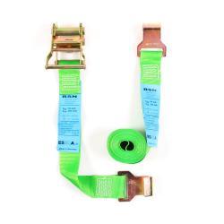 Zurrgurt - zweiteilig - Breite 50 mm - mit Ratsche - Länge 6 m - Farbe grün