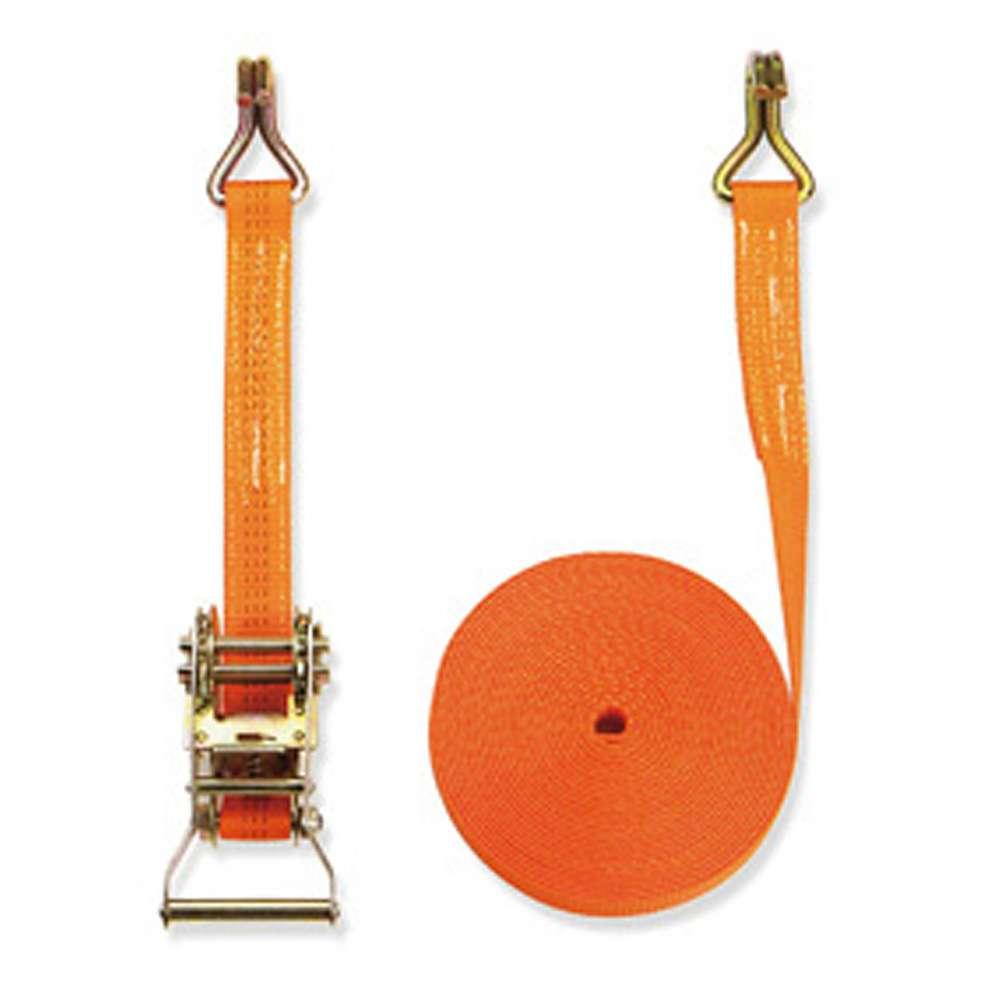 Spännband - 2-delat - bredd 35 mm - 1500 daN - med spärrhandtag - orange