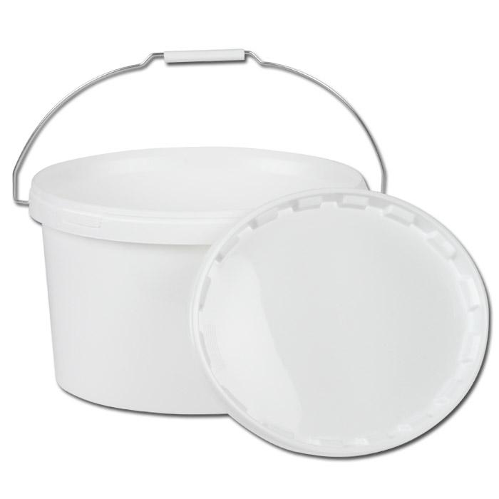 """Kunststoffeimer - oval Volumen 11,0l - weiß - mit Deckel - """"Jokey"""""""