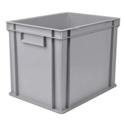 Transportbehälter Kunststoff - hellgrau lebensmittelecht