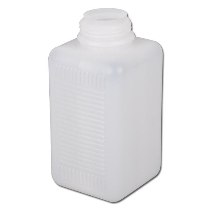 Weithalsflaschen Serie 310 HDPE - natur- vierkantig ohne Verschl.