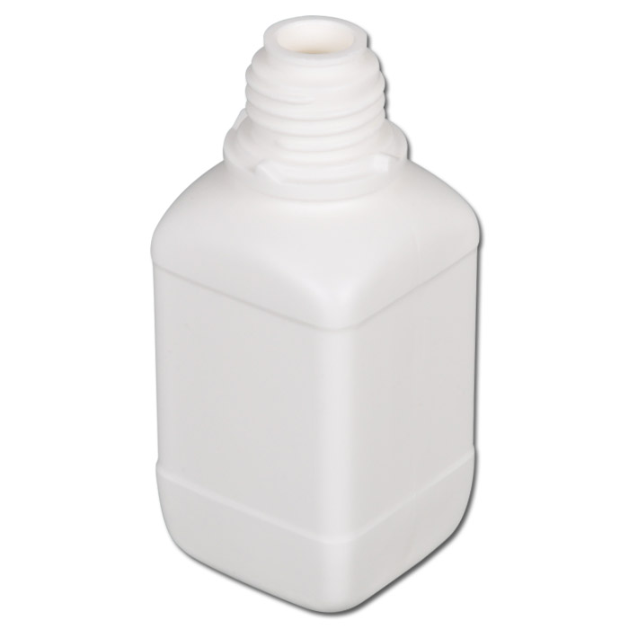 Kemikalier smal mun flaskor serie 310 HDPE - kvadrat utan tillslutning