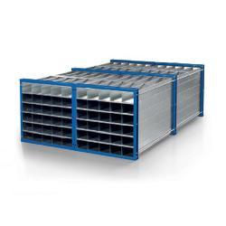 Honeycomb rack type RWR-25/3 - Dimensions (W x D x H) 3000 x 1000 x 1000 mm - 25 compartments - Light dimensions (W x H) 179 x 161 mm