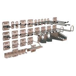 Werkzeughalter-Set - für Lochplatten - 12-teilig