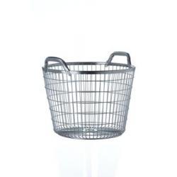 Drahtkorb rund (konisch) - Stahl verzinkt - zwei Griffe\n