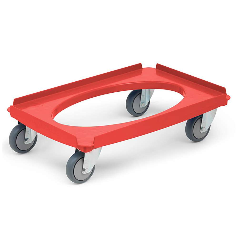 Transport trolley - galvanized/stainless steel - capacity of up to 250kg