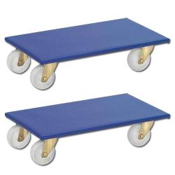 Furniture Roller Set of 2 - polyamide or rubber slip protective coating