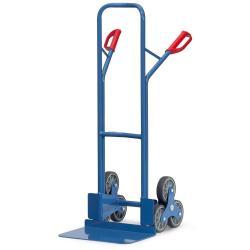Treppenkarre - Stahl pulverbeschichtet - 3-armige Radsterne TPE-bereift - Schaufel 480 x 300 mm - 200 kg