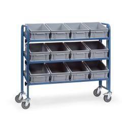 Carrello di montaggio - con 3 basculanti pavimenti in legno - 250 kg