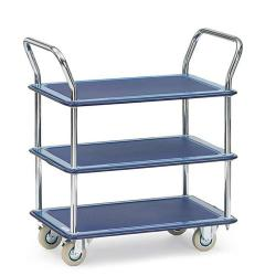 All-steel wagon - carrying capacity 120 kg - 3 floors - handlebar
