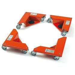 Corner Roller - each 3 Casters - Capacity 150 kg each - in a suitcase