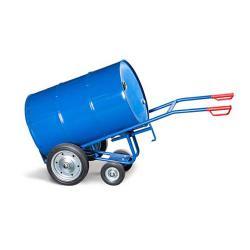 Fasskarre FKR-S2 - Stahl lackiert - Vollgummi-Bereifung - 2 Stützräder - für 200 und 220-Liter-Fässer