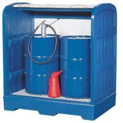 stoccaggio merci pericolose - Capacità carter 245 litri - per 1 barile di 200 litri