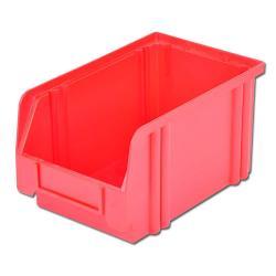 Sichtlagerkasten - rot - ab 85/65 x 105 x 45 mm  - hochschlagfest