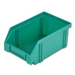 Bac de rangement - vert - à 500/450x300x230 mm - à haute résistance aux chocs