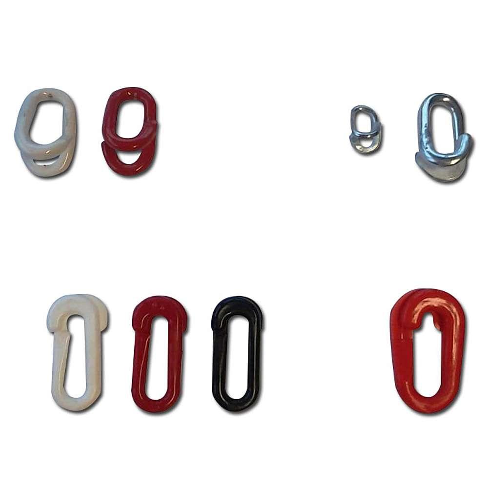 Łączenie łańcuchowe Linki - kompozyt / stal - różne kolory.