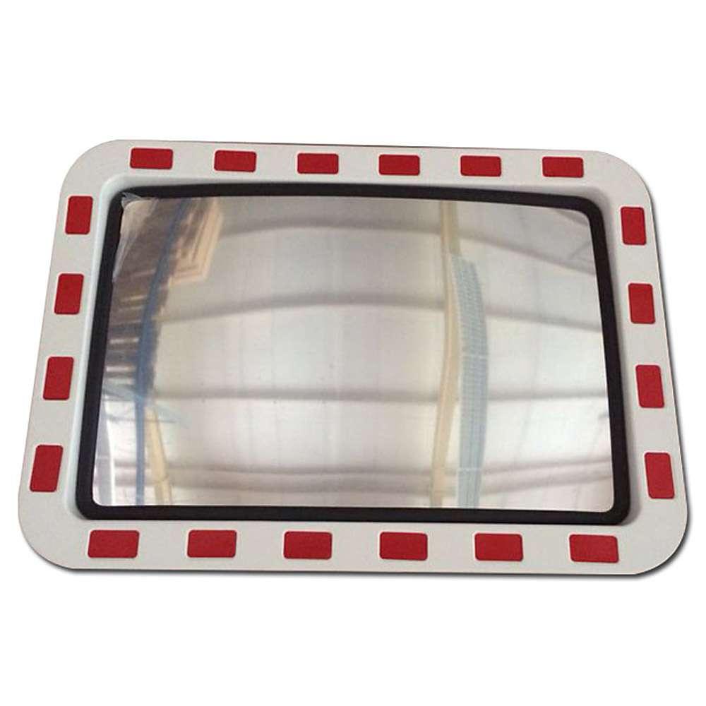 Verkehrsspiegel aus Acrylglas - rot-weißer Rand - mit Kippgelenk